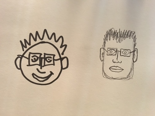 Draw myself 2 versions