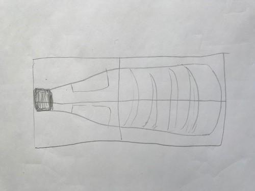 Skizze Flasche